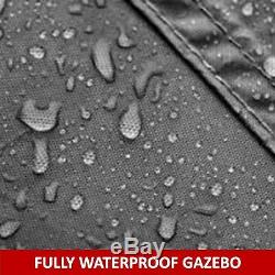 Gazebo Garden Gazebo 3x4 Mtr Graphite Grey Fully Waterproof Pvc Lined Canopy