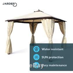 Gazebo Steel Frame Heavy Duty Pagoda Garden Canopy Tent Metal REDUCED FROM £398