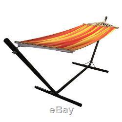 Hammock with Stand Garden Outdoor Lounger Swing Chair Steel Metal Redstone