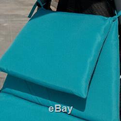 Hanging Chaise Hammock Chair Lounge Outdoor Swing Canopy Cushion Yard Garden UK