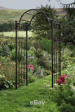 Heavy Duty Metal Garden Arch Climbing Plant Support Frame Archway