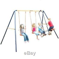 Hedstrom Neptune Double Swing And Glider Childrens Kids Garden Play Ground Set