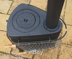 Hellfire GARDEN Cast Iron Stove Cooker BBQ Patio Heater Pizza Oven Fire Pit