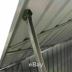 Large Galvanized Metal Steel Garden Shed Bike Unit Storage Tools Bicycle Storage