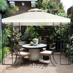 Large Gazebo 3x3 Waterproof Pergola Metal Garden Pavilion Canopy Shelter Outdoor