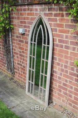 Large Wall Mirror Gothic Style Arched Outside Garden 4ft11 x 2ft