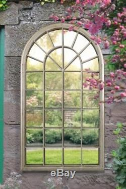 Large Wall Mirror Rustic French Style Arched Window Garden Outdoor 5ft3 x 3ft