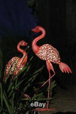 Luxform Garden & Outdoor Lighting Solar Metal Light Statue Ornament Flamingo