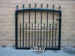 MANOR HEAVY DUTY GARDEN METAL GATE 46 OP x 48 TALL STRONG WROUGHT IRON SMALL