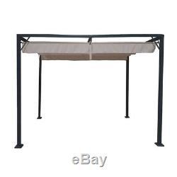 Manhattan Metal Gazebo with Retractable Roof 3x2.15 Marquee Canopy Awning Garden