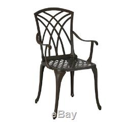 Metal Cast Aluminium Garden Patio Furniture 7 Pcs Set for Pub Cafe Picnic Party