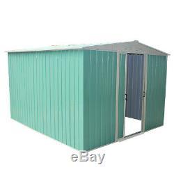 Metal Garden Apex Roof Shed Bike Storage Outdoor Tool Timber Furniture Organizer