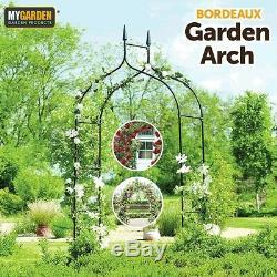 Metal Garden Arch Heavy Duty Strong Archway Rose Wedding Climbing Plants Black
