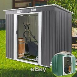 Metal Garden Shed Outdoor Storage House Heavy Duty Tool Organizer Box