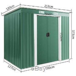Metal Garden Shed Outdoor Storage House Heavy Duty Tool Organizer Box