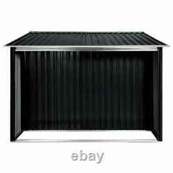 Metal Garden Shed Outdoor Storage House Tool Sheds with Sliding Doors Anthracite