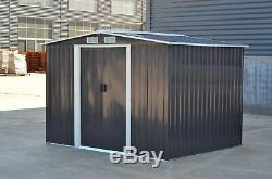Metal Garden Shed Outdoor Storage House10x8 Tool Sheds with Free Base