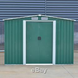 Metal Garden Storage Shed Pent Tool Sheds House Galvanized Steel with Free Base UK