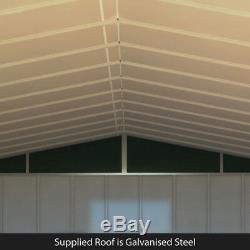 Metal Shed Garden Storage 5x4 ft Partner Mini Heavy-Duty Galvanised Steel Apex