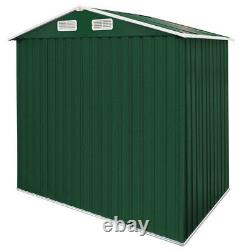Metal Tool Shed Garden Storage 8x6ft Apex House Outdoor Container Large Yard New