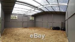 Metal Workshop & Garage for Car, Motorbike Shed, Garden Equipment 18x18ft