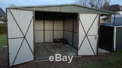 Metal Workshop or Garage for Car, Motorbike Shed, Garden Equipment 17x12ft