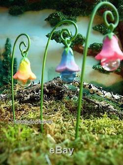 Miniature Fairy Garden Glow Flowers MG 38 SM pick 3 Assorted Glow in the Dark