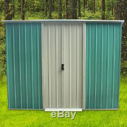 New 8x4FT Metal Garden Shed Heavy Duty Steel Sheds Tools House Good Quality