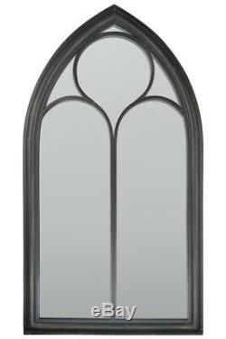 New Black Rustic Home & Garden Outdoor Mirror 3ft8 x 2ft 112cm x 61cm