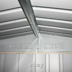 New Garden Shed Metal Apex Roof Outdoor Storage With Free Foundation 8ft X 6ft