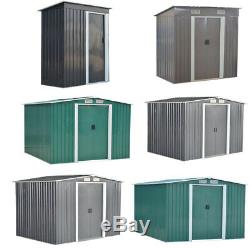 New Metal Garden Shed 3 X 5, 6 X 4, 8 X 4, 8 X 6, 10 X 8 Storage with free base