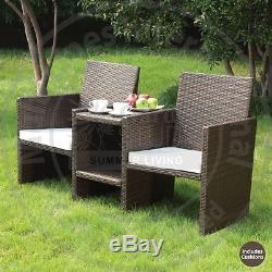 New Venice Rattan 2 Seater Companion Set Garden Furniture-Outdoor Garden Set