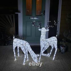 Outdoor Light Up Reindeer Christmas LED Garden Decoration Stag Doe 1.2m Xmas