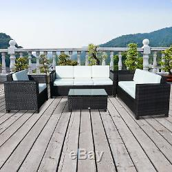 Outdoor Rattan Garden Patio Wicker Weave Furniture Table Sofa Chair Mixed Brown
