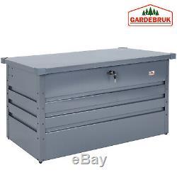 Outdoor Storage Box 360L Metal Garden Lockable Utility Chest 120x62x63cm Patio