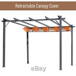 Outsunny 3M X 3M Pergola Gazebo Sun Shade Shelter Aluminium Garden Canopy