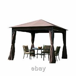Outsunny 3m x 3m Garden Metal Gazebo Marquee Party Tent Canopy Shelter Pavilion