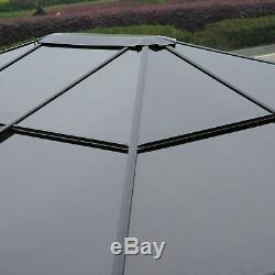 Outsunny 3x3.6m Aluminium Gazebo Canopy Patio Marquee Party Tent Outdoor Garden