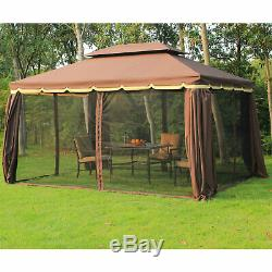 Outsunny 3x4m Aluminium Metal Gazebo Garden Marquee Party Tent Canopy Pavillion