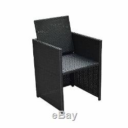 Outsunny 9pc Rattan Dining Set Garden Furniture Wicker Patio Table Chairs Weave