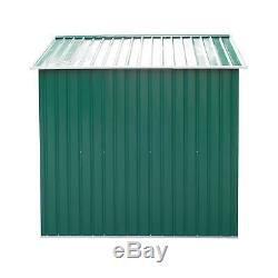 Outsunny 9x6ft Garden Shed Outdoor Foundation Storage Unit Metal Tool Box Green