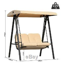 Outsunny Garden 2 Seater Swing Chair Hammock Bench Cushioned Seat Outdoor