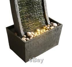PPeaktop Outdoor Garden Patio Decor Curved Water Fountain Feature RJ-19048-UK