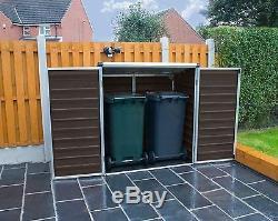 Plastic Garden Shed With Base Palram Voyager Wheelie Bin Store Lockable