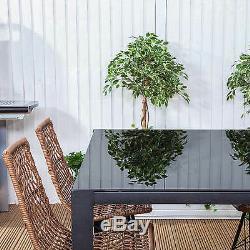 Polynesian Rectangular Outdoor Garden Furniture Dining Table & Chairs Set