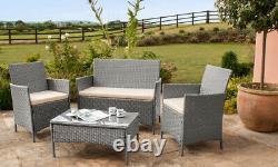 Rattan Garden Furniture Set Chairs Sofa Table Outdoor Patio