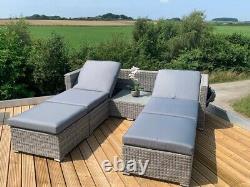 Rattan Garden Furniture Set Sofa Day Bed Canopy Lounger Wicker 5 Year Warranty