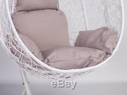 Rattan Style Swing Patio Garden Weave Hanging Egg Chair & Cushion Outdoor Indoor