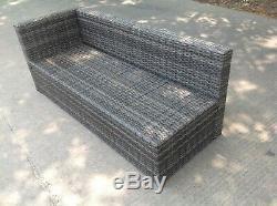 Right arm 9 seater rattan corner sofa set dining table outdoor garden furniture