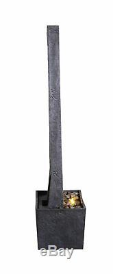 SOLD OUT Peaktop Outdoor Garden Patio Decor Tall Water Fountain Feature Grey RJ1